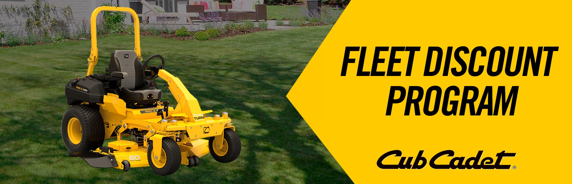 Cub Cadet:  FLEET DISCOUNT PROGRAM